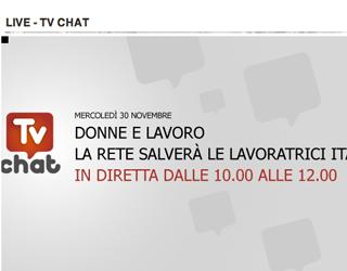 Tv Chat L Italia Vista Dal Web Donne E Lavoro Valigia Blu