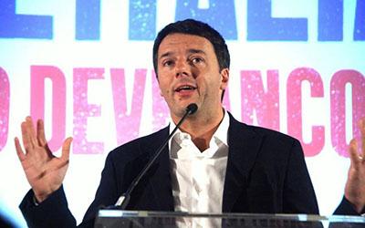 Conferenza stampa Matteo Renzi dopo risultati primarie PD
