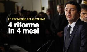 Le promesse del governo Renzi alla prova del countdown