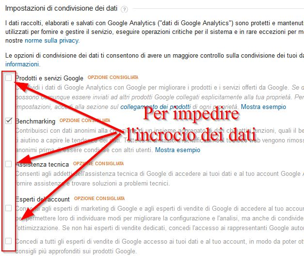 Google Analytics - pannello