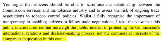 Estratto mail DG Trade del 25 agosto 2015
