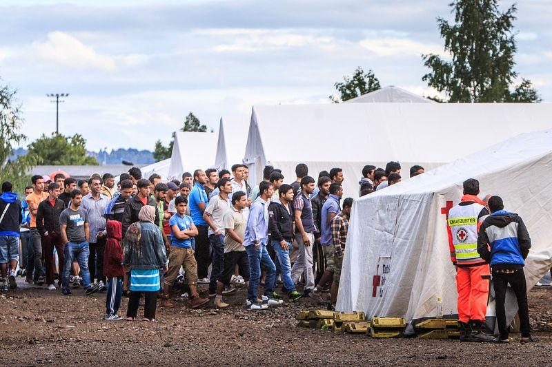 Campo profughi a Dresda, via Vox.com.