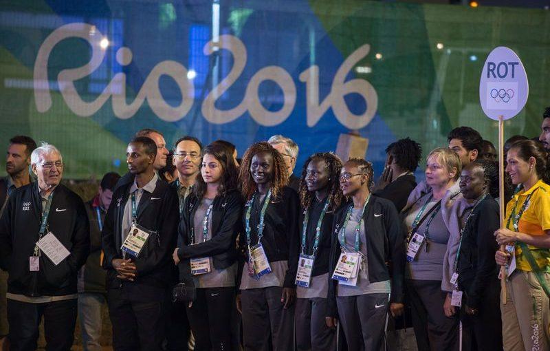 Membri della squadra dei rifugiati a Rio