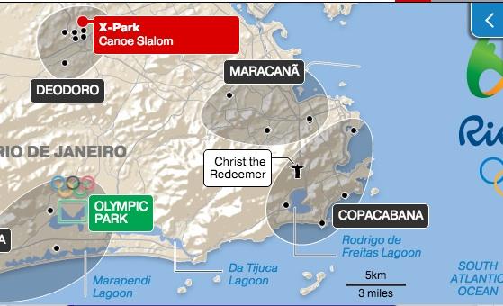 I luoghi delle Olimpiadi – via The Independent