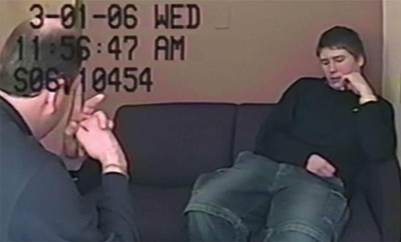 Fotogramma dell'interrogatorio di Brendan Dassey
