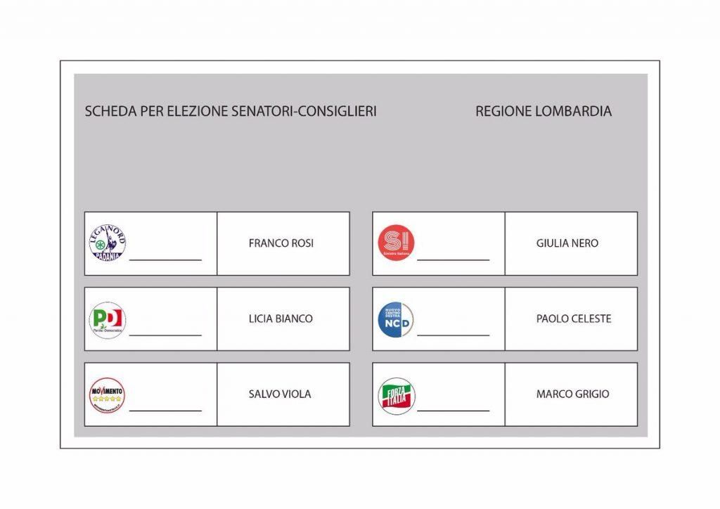 scheda elettorale Senato Matteo Renzi