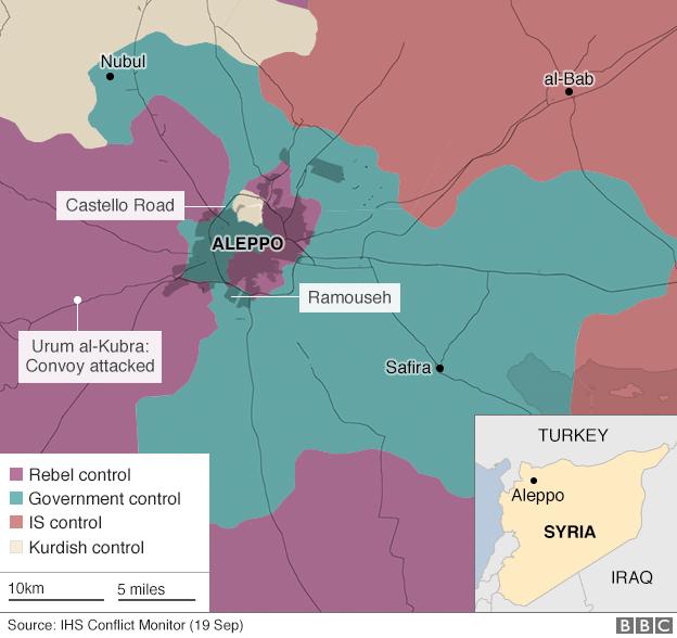 Aleppo, città chiave per il controllo della Siria – via BBC