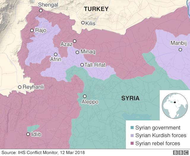 Risultati immagini per mappa siria 2018