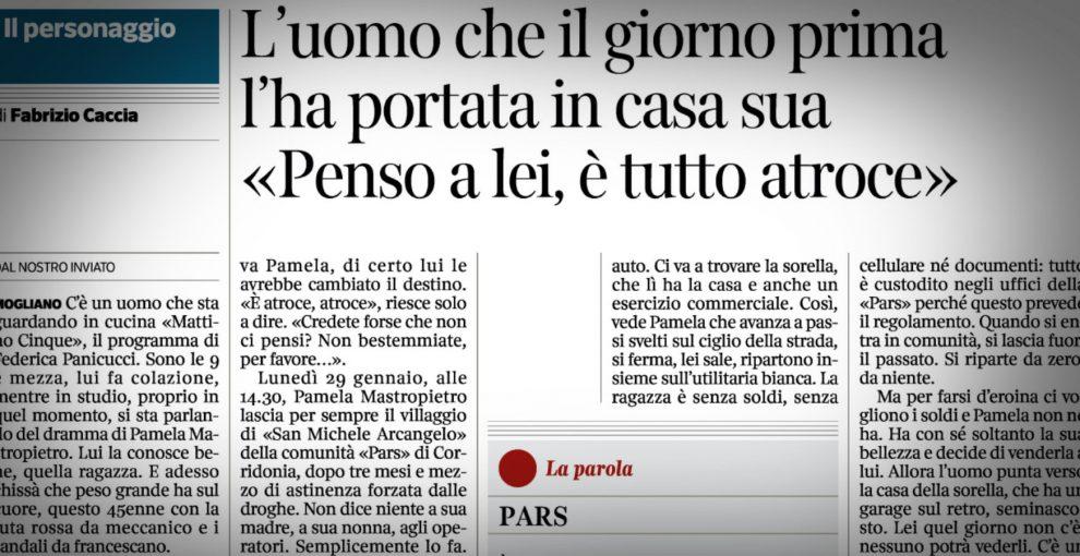 L'articolo sull'uomo che ha pagato Pamela per fare sesso e gli errori del Corriere