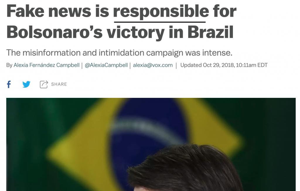 Eppure ecco cosa si è letto circa l elezione di Bolsonaro e i social media  3e8991ceb200