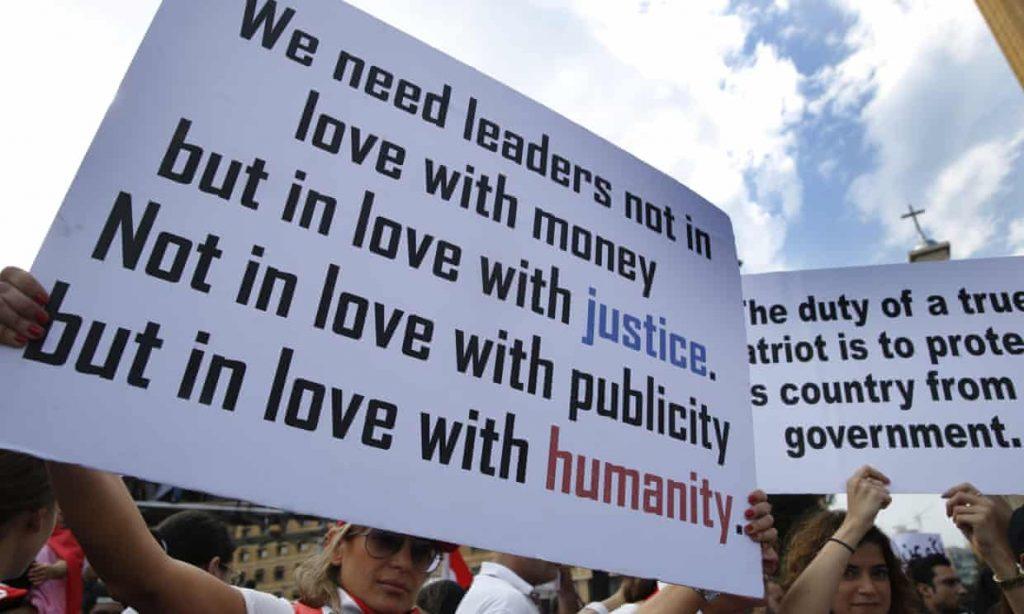 Libano, proteste, corruzione