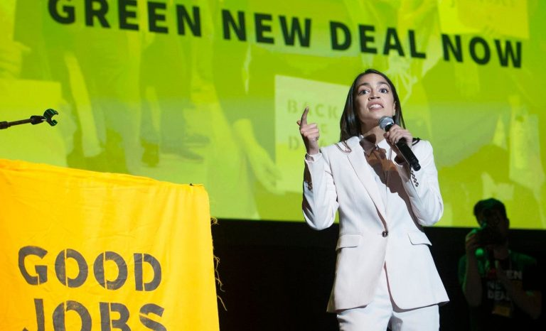 green new deal, alexandria ocasio-ortez, cambiamento clima, usa, trump